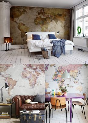 Decoración con mapas