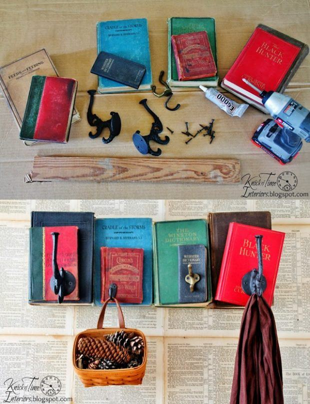 Perchero DIY con libros